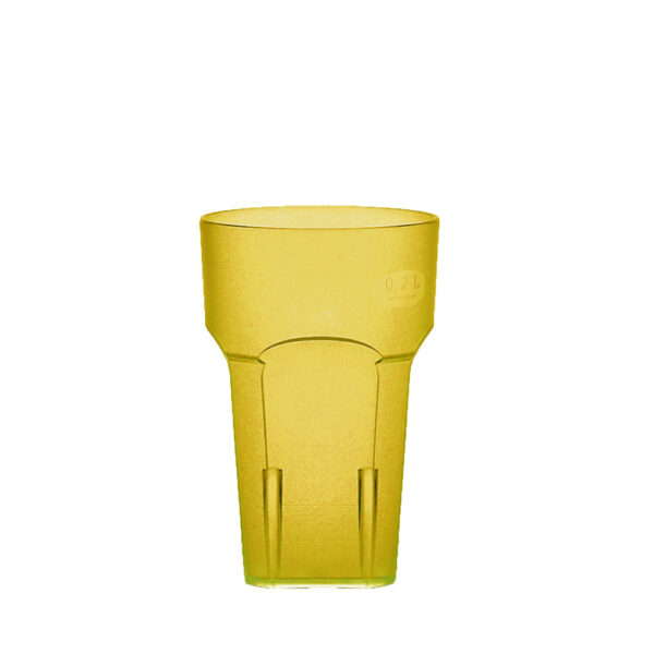 Wasserglas, Cocktailglas, Longdrinkglas 200 ml gelb aus SAN