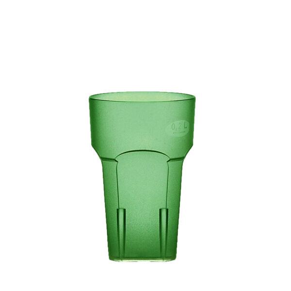 Wasserglas, Cocktailglas, Longdrinkglas 200 ml grün aus SAN