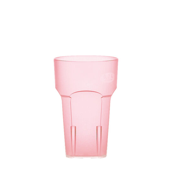 Wasserglas, Cocktailglas, Longdrinkglas 200 ml rot hell aus SAN