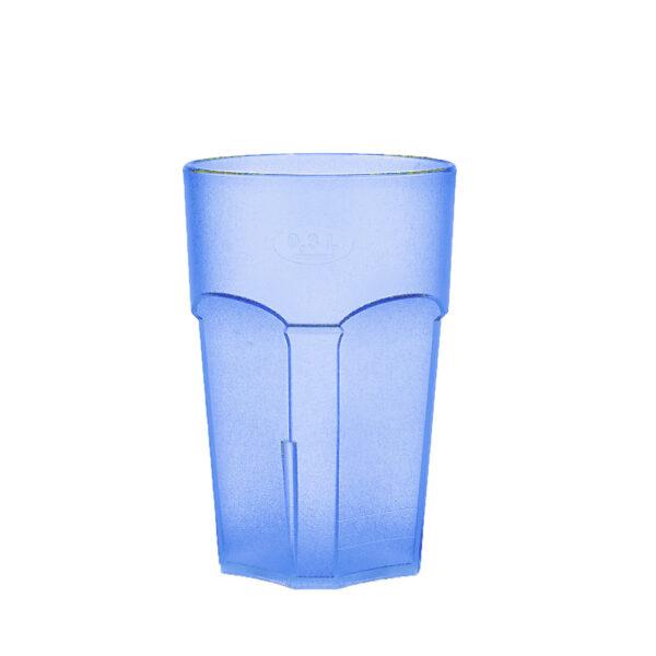 Wasserglas, Cocktailglas, Longdrinkglas 300 ml blau hell aus SAN
