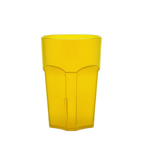 Wasserglas, Cocktailglas, Longdrinkglas 300 ml gelb aus SAN