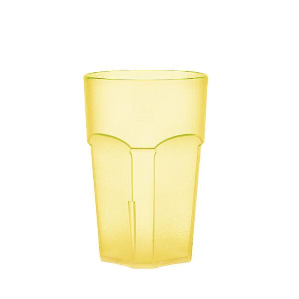 Wasserglas, Cocktailglas, Longdrinkglas 300 ml gelb hell aus SAN