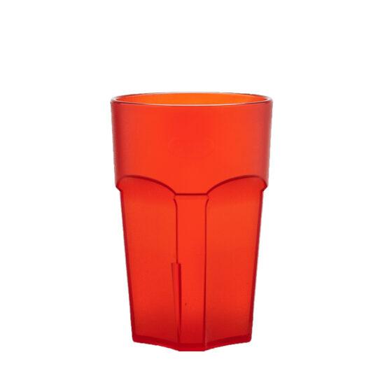 Wasserglas, Cocktailglas, Longdrinkglas 300 ml rot aus SAN