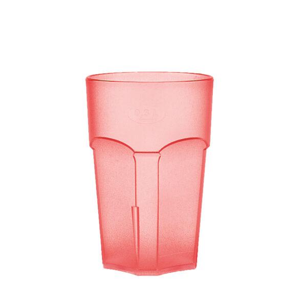 Wasserglas, Cocktailglas, Longdrinkglas 300 ml rot hell aus SAN