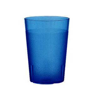 Trinkbecher 400 ml blau aus SAN