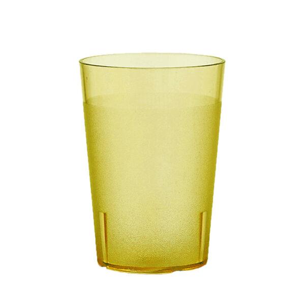 Trinkbecher 400 ml gelb aus SAN