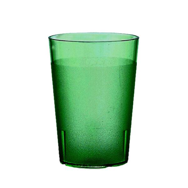 Trinkbecher 400 ml gruen aus SAN