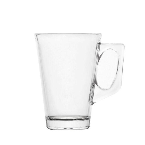 Teeglas mit Henkel 250 ml aus Polycarbonat