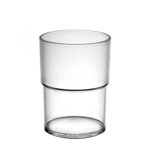 Wasserglas 180 ml aus Polycarbonat, teilgefrostet