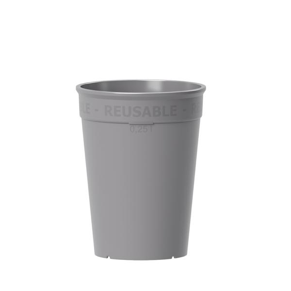 Wiederverwendbarer Coffee to go Becher 250 ml in sandstein