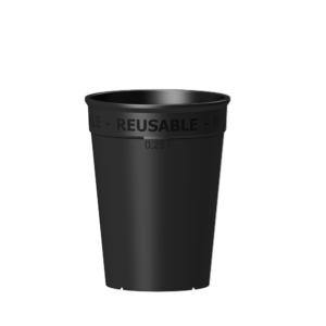 Wiederverwendbarer Coffee to go Becher 250 ml in schwarz