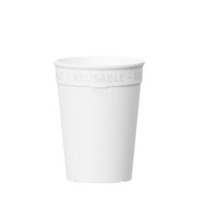 Wiederverwendbarer Coffee to go Becher 250 ml in weiß